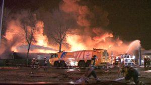 Пожар на нефтеперерабатывающем заводе Shell остановил производство