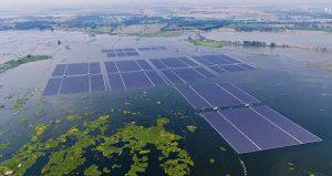 На затопленной территории бывшего угольного месторождения Китаем запущена плавучая солнечная электростанция