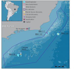 «Statoil» завершена сделка по приобретению 10% доли в блоке BM-S-8 на шельфе Бразилии