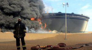 Ливийская NOC потеряла две пятых мощности хранения нефти из-за нападения боевиков