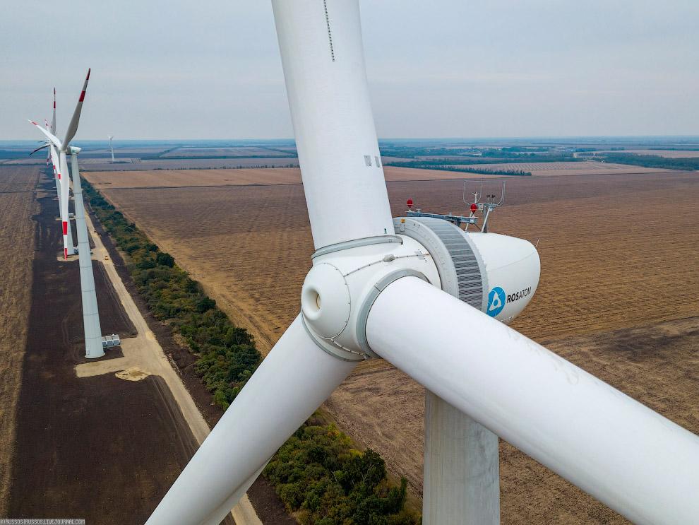 На ВЭС «Росатома» в Адыгее завершен I-й этап физического ввода в строй парка ветроустановок