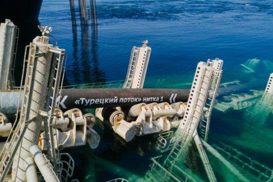 Российский газ по «Турецкому потоку» идет в Болгарию, Грецию и Северную Македонию с начала года